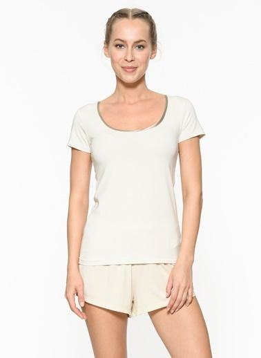 Chakra Jeni T-Shirt Krem